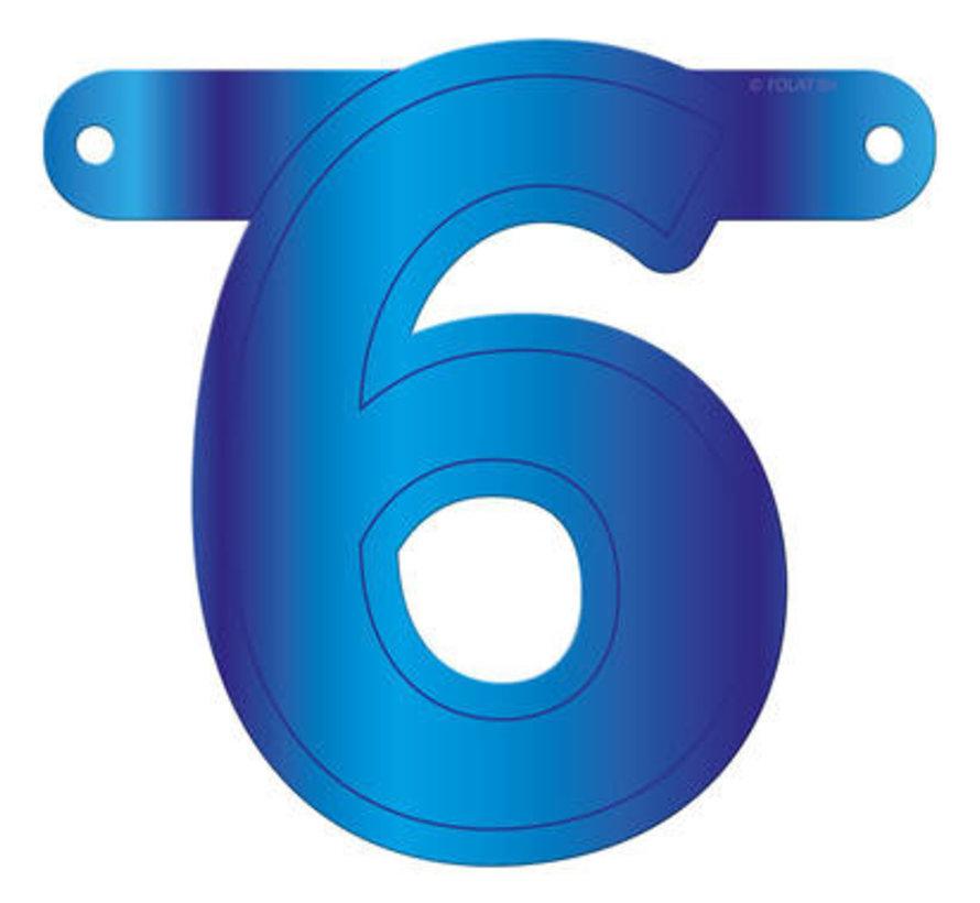 Letterslinger 6 Blauw