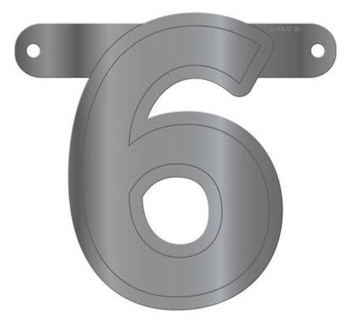 Letterslinger 6 Metallic Zilver
