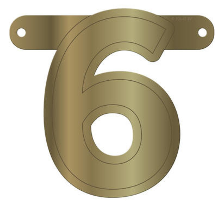 Letterslinger 6 Metallic Goud