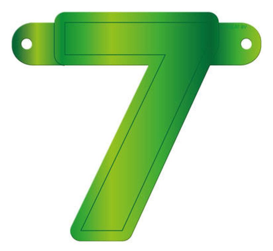 Letterslinger 7 Lime Groen