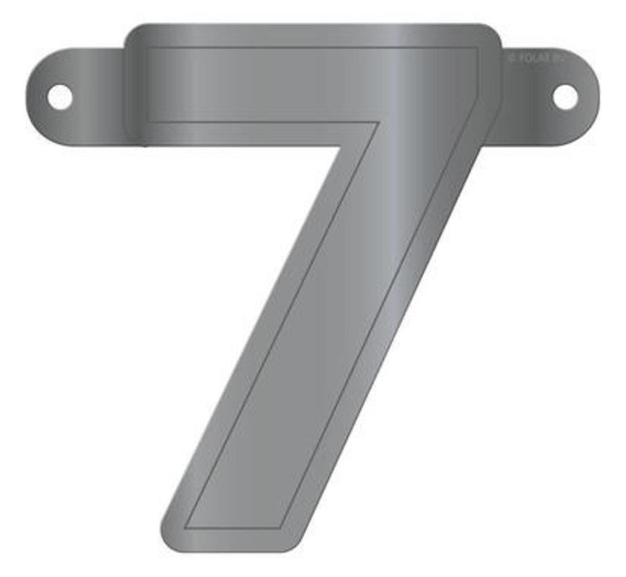 Letterslinger 7 Metallic Zilver