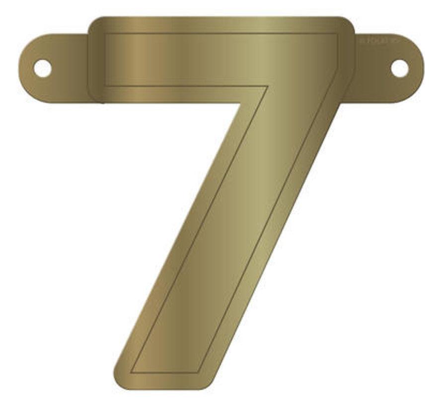Letterslinger 7 Metallic Goud