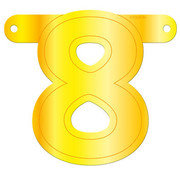 Letterslinger 8 Geel