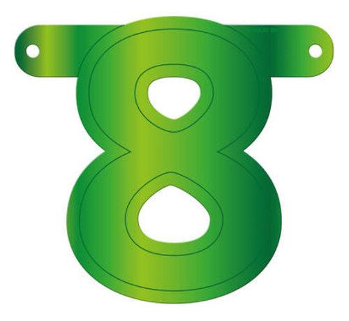 Letterslinger 8 Lime Groen