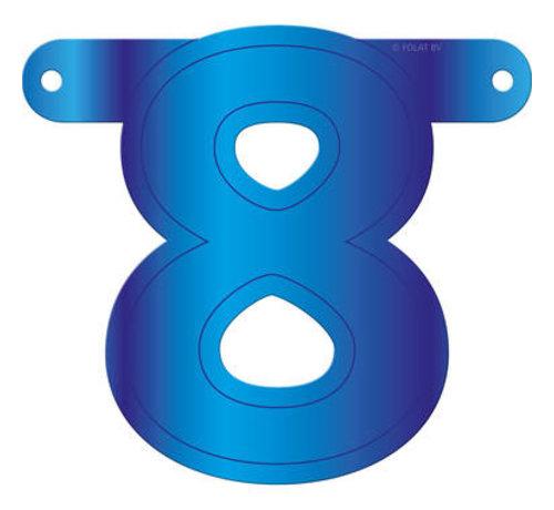 Letterslinger 8 Blauw