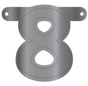 Letterslinger 8 Metallic Zilver