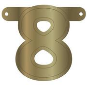 Letterslinger 8 Metallic Goud