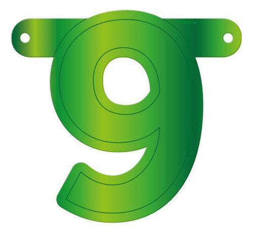 Letterslinger 9 Lime Groen