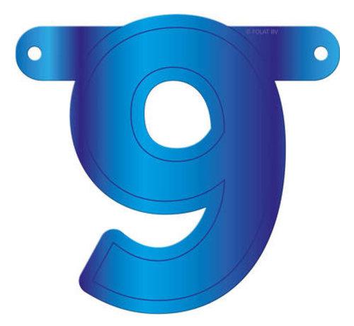 Letterslinger 9 Blauw