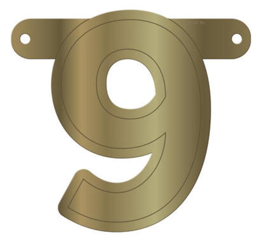 Letterslinger 9 Metallic Goud
