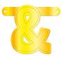 Letterslinger Ampersand Geel