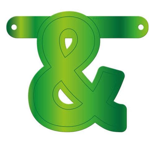 Letterslinger Ampersand Lime Groen