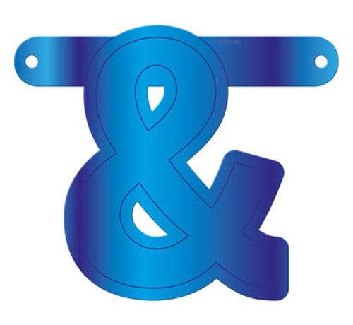 Letterslinger Ampersand Blauw