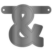 Letterslinger Ampersand Metallic Zilver
