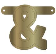 Letterslinger Ampersand Metallic Goud