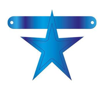 Letterslinger Ster Blauw