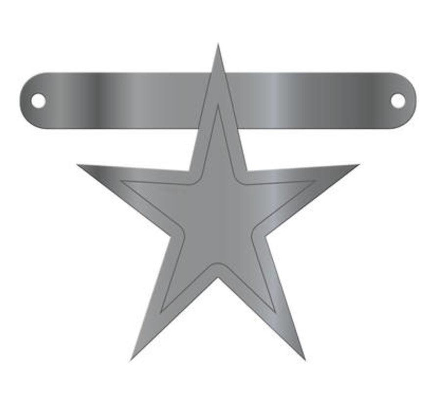 Letterslinger Ster Metallic Zilver