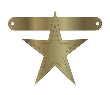 Letterslinger Star Metallic Goud