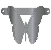 Letterslinger Vlinder Metallic Zilver