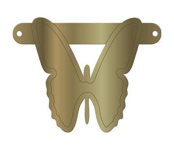 Letterslinger Vlinder Metallic Goud