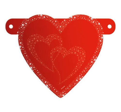 Letterslinger Romantisch Valentijns Hart
