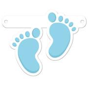 Letterslinger Geboorte Babyvoetjes jongetje Blauw
