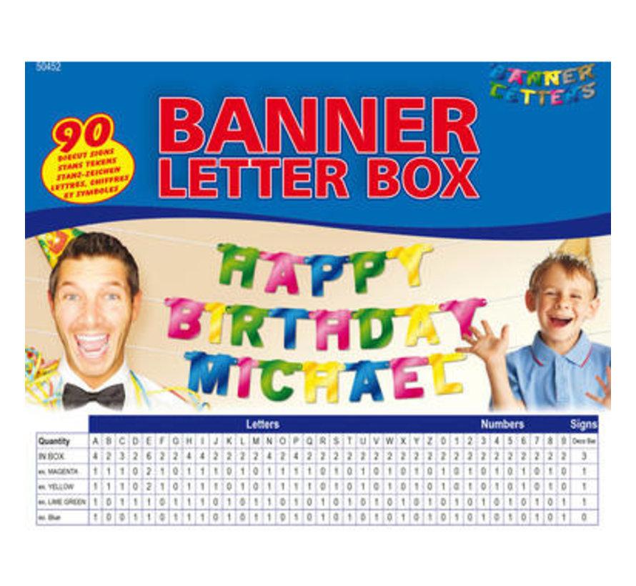 Letterslinger Doos - 90 tekens