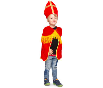 Sint Cape met Mijter Kind - One Size