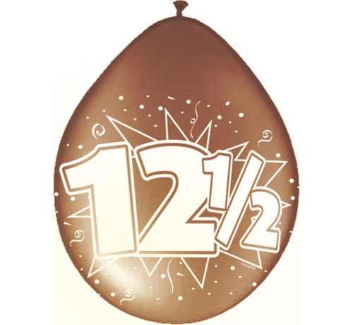12,5 Jaar Ballonnen Koperen jubileum 30cm - 8 stuks