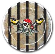 Rode Piraten Borden 23cm - 8 stuks