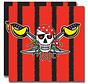 Rode Piraten Servetten 33x33cm - 20 stuks