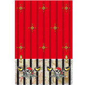 Rode Piraten Tafelkleed 130x180cm - per stuk