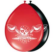 Rode Piraten Ballonnen - 8 stuks