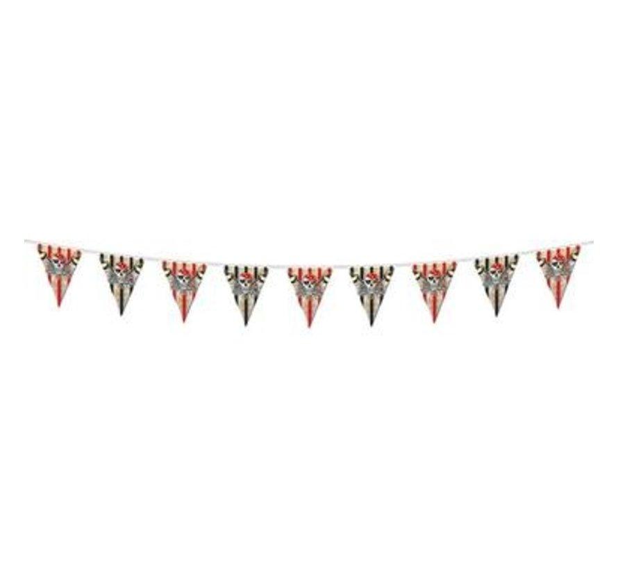 Rode Piraten Vlaggenlijn - 6 meter