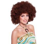 Bruine Afro Pruik XL
