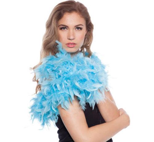 Luxe Boa Lichtblauw - 180cm