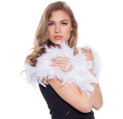 Luxe Boa Wit met Zilveren Tinsels - 180cm