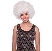 Witte Afro Pruik XXL