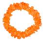 Hawaii Krans Neon Oranje - 58cm