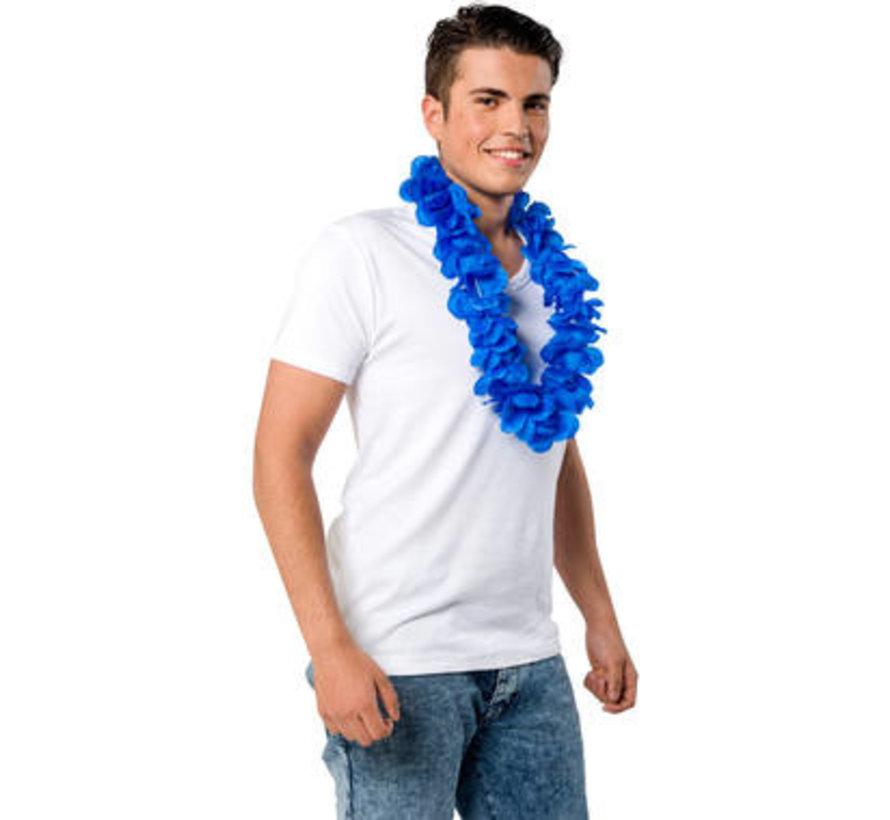 Hawaii Krans Neon Blauw - 55cm