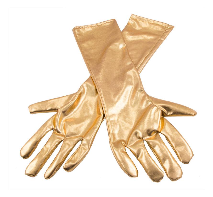 Handschoenen metallic goud