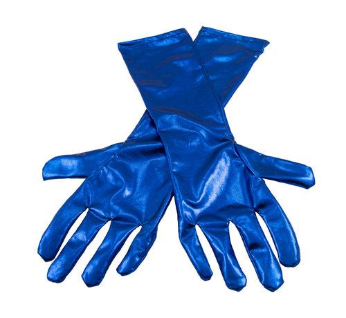 Handschoenen metallic blauw