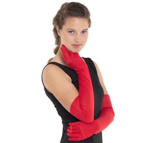Lange Rode Handschoenen Dames - 50cm