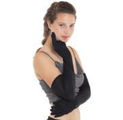 Lange Zwarte Handschoenen Dames - 50cm