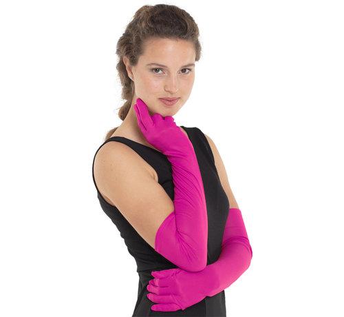 Lange Roze Handschoenen Dames - 50cm