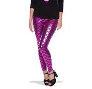 Roze Metallic Zeemeermin Legging