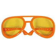 Elvis Oversized Feestbril Oranje