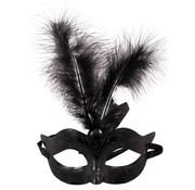 Venetiaans Masker Metallic Zwart