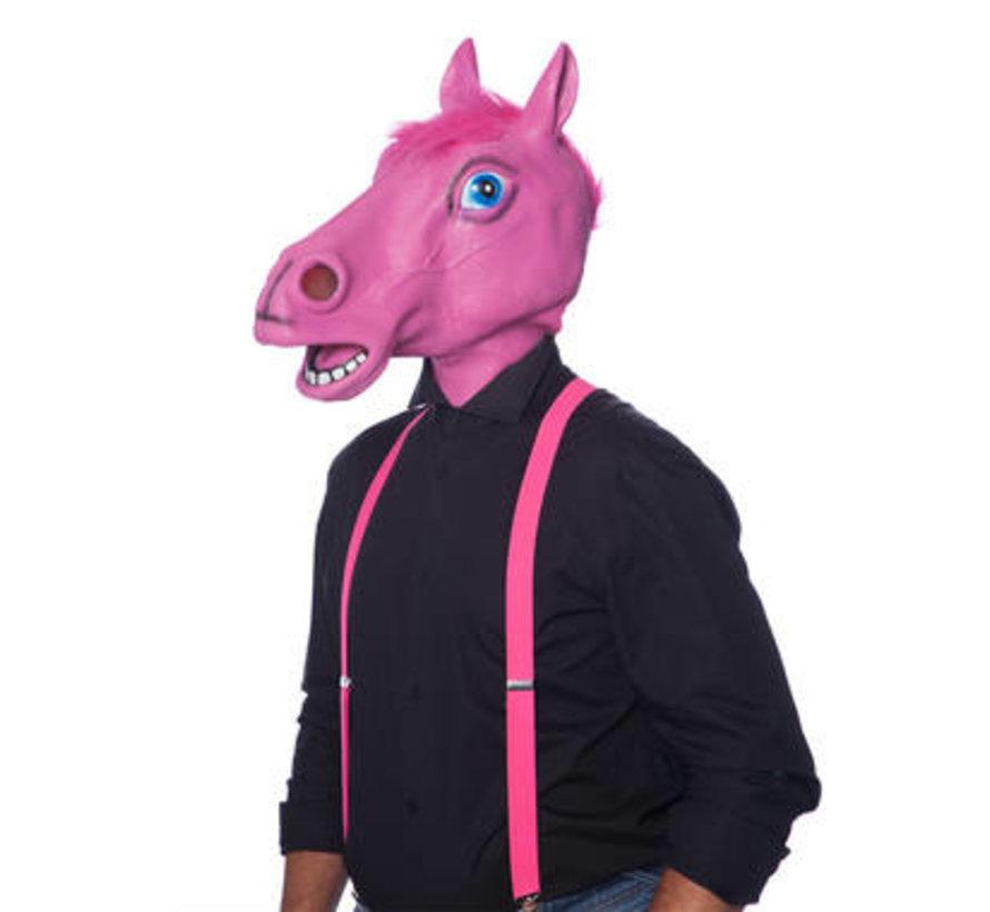 Paard Masker Latex Roze