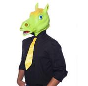 Paard Masker Latex Geel